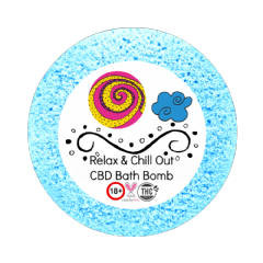 Relax & Chill Out CBD Bath Bomb 50mg VEGAN 180+gm (relaxation)
